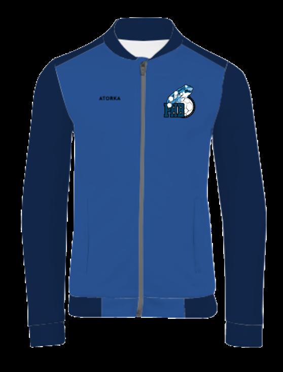 Veste polyester club 100 adulte bleu/bleu marine