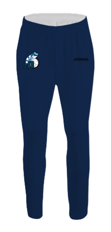 Pantalon polyester club 100 junior bleu marine