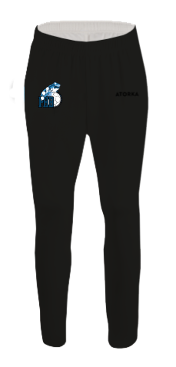 Pantalon polyester club 100 adulte noir