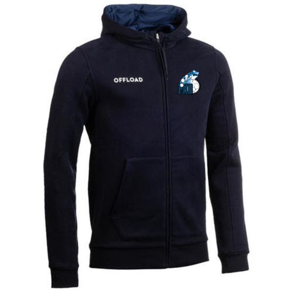 Veste club Zip adulte bleu marine